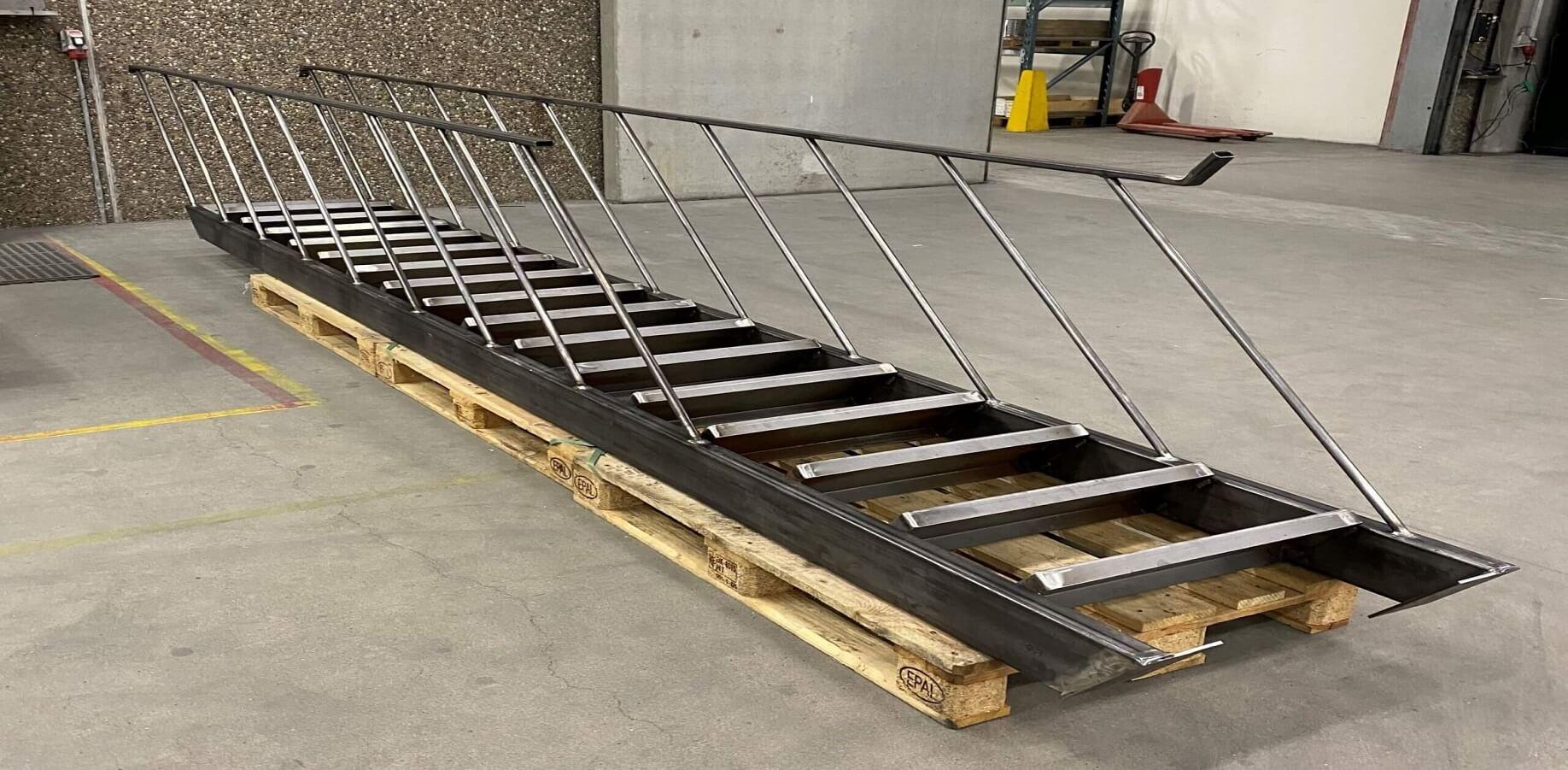 trapper lavet af sortjern